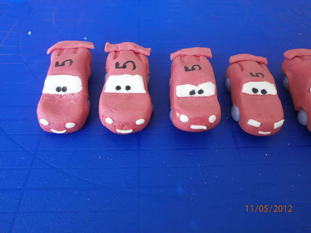 Cars Fondant Kuchen Dekoration