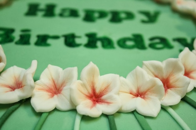 grüne Geburtstagstorte, Happy Birthday,
