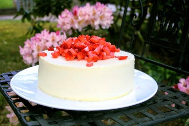 Obst, Sommer, Garten, weiße Schokolade