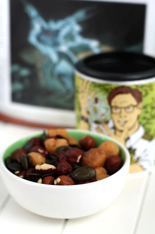 Studentenfutter Haselnüsse, Kürbiskerne, Cranberries, Macadamia