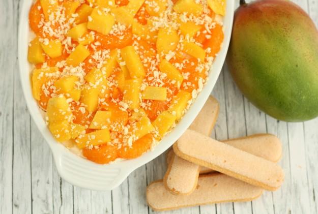 Mandarinen-Mango-Schichtdessert
