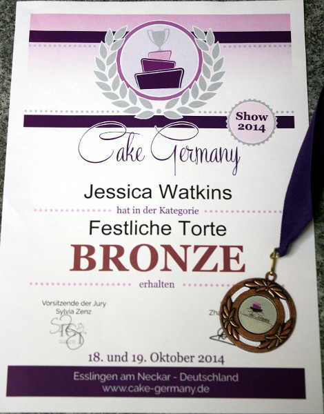 Bronze Festtagstorte Cake Germany 2014