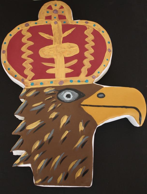 Schützenkönig, Schützenverein, Adler, Motivtorte, Fondant, Königsadler