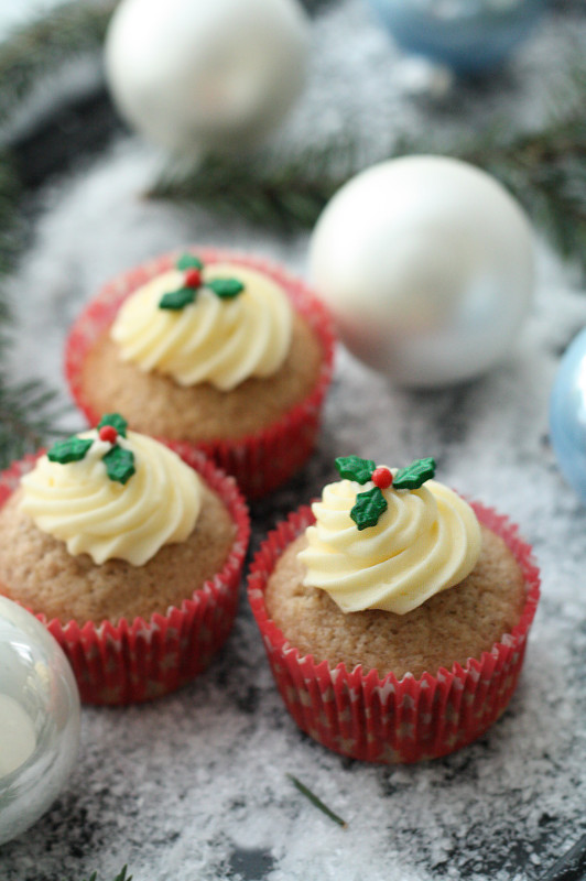 schnell und einfach, Weihnachten, Muffins, Ilex-Streusel Wilton