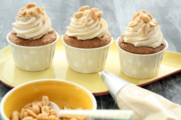 Peanutbutter Cupcakes with Brown Sugar Frosting