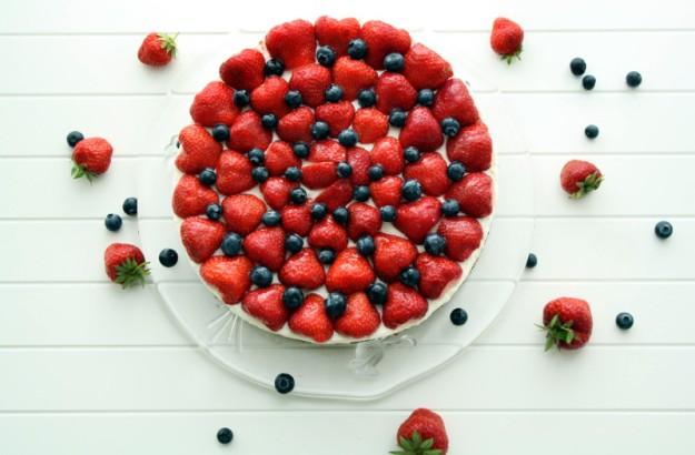 Erdbeeren, Blaubeeren, Joghurt