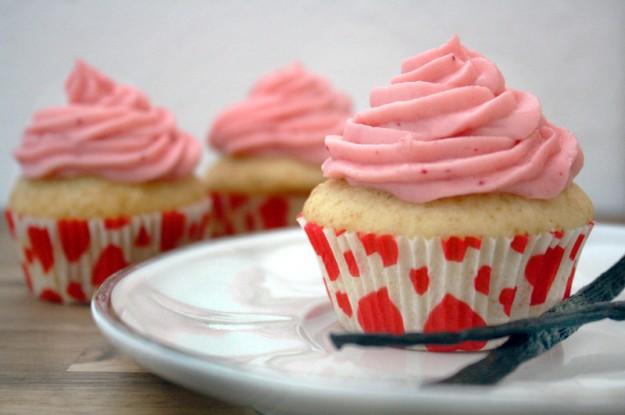 Kirsch-Vanille-Cupcakes
