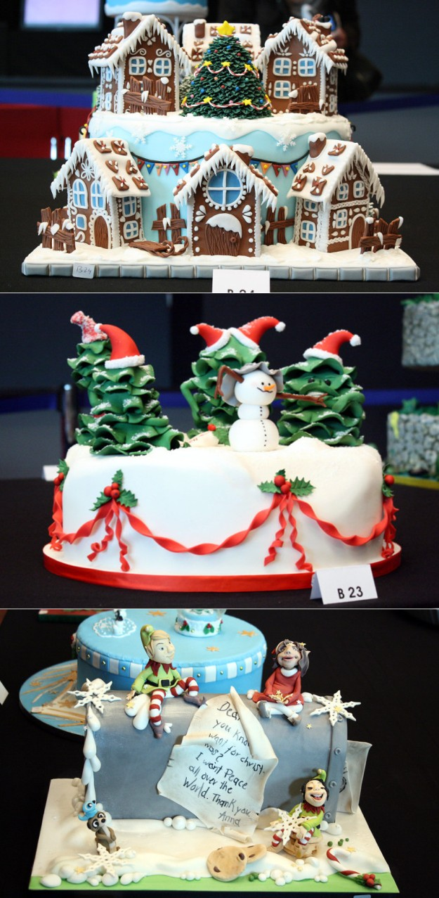 Collage Cake Germany 2015 B Festtagstorte Weihnachten