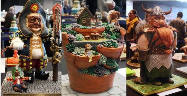 Collage Cake Germany 2015 C Geschnitzte 3D-Torte