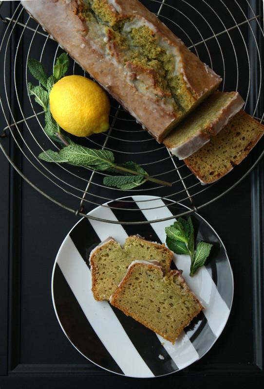 Minzkuchen mit Zitrone, Minz-Zitronen-Kuchen, extra lange saftig, Invertzucker, grüner Kuchen
